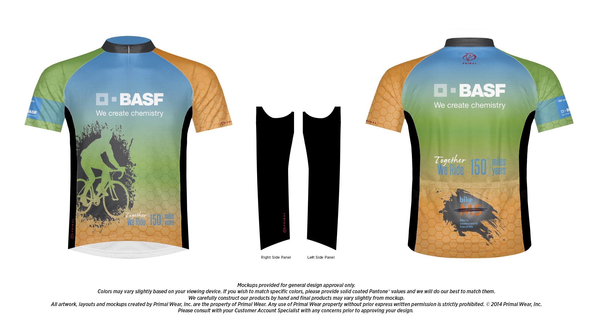 Approved Design Mock-up for BASF Bike MS Jersey Design